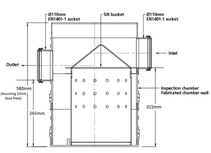 300mm silt trap chamber